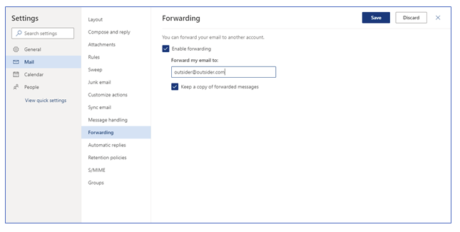 Shut off Email Forwarding in Microsoft Office 365